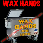 wax hands button