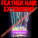 hair feather extensions button